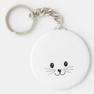 Cute Cat Face. Keychains