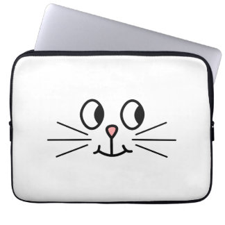 Cute Cat Face. Laptop Computer Sleeve