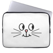 Cute Cat Face. Laptop Sleeve