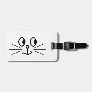 Cute Cat Face. Tags For Bags