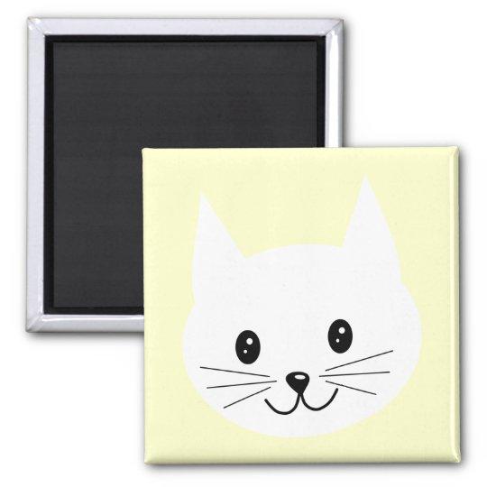 Cute Cat Face. Magnet