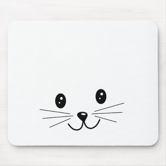 Cute Cat Face. Mouse Pad