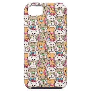 Cute Cat Face Pattern iPhone 5 Cases