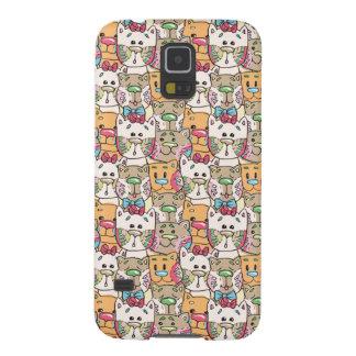 Cute Cat Face Pattern Galaxy S5 Cover