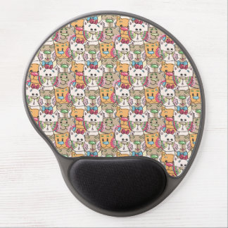 Cute Cat Face Pattern Gel Mouse Pad