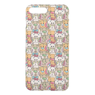Cute Cat Face Pattern iPhone 7 Plus Case