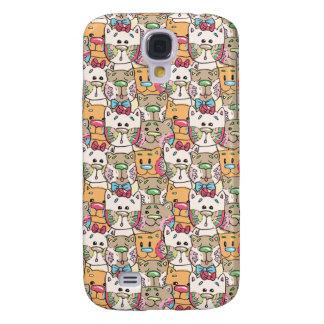 Cute Cat Face Pattern Samsung S4 Case