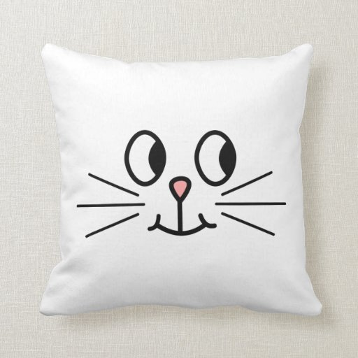 Cute Cat Face. Pillow Zazzle