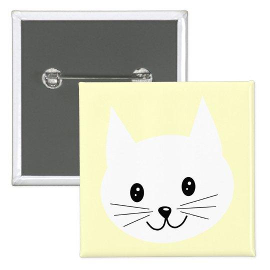 Cute Cat Face. Pinback Button