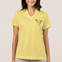 cute cat face polo shirt