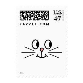 Cute Cat Face. Postage