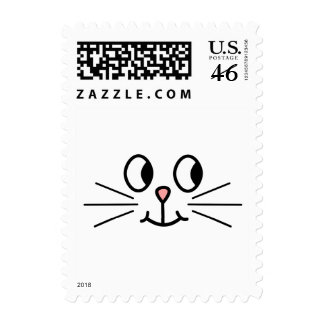 Cute Cat Face Postage Stamp