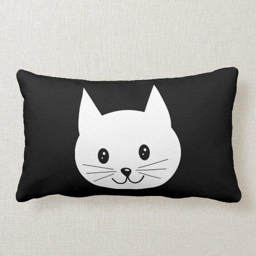 Cute Cat Face. Throw Pillows