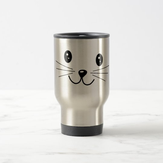 Cute Cat Face. Travel Mug