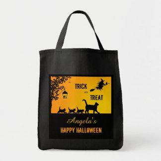 Cute Cat Family Halloween Treats Bag