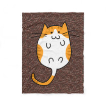 Cute Cat Fleece Blanket