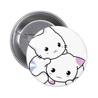 Cute cat friends button