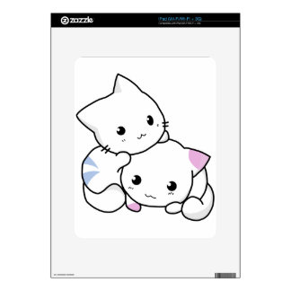 Cute cat friends decal for iPad