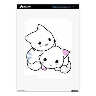 Cute cat friends decals for iPad 3