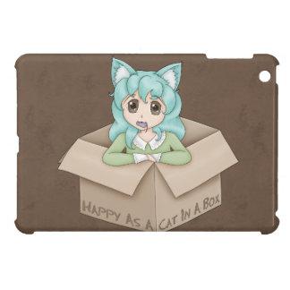 Cute Cat Girl In A Box iPad Mini Covers