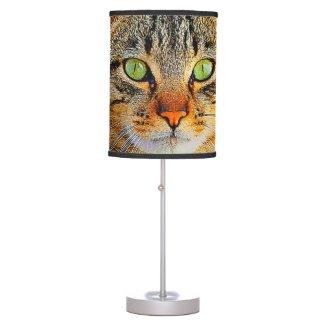 Cute Cat Graphic Design Desk Lamps