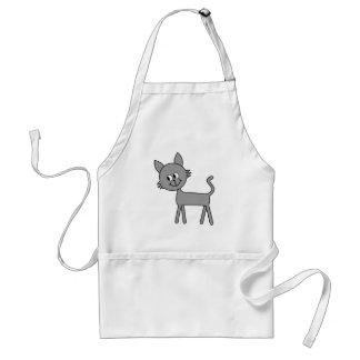 Cute Cat. Gray Cat Walking. Adult Apron