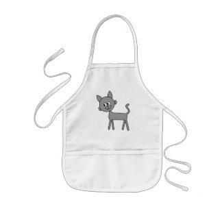 Cute Cat. Gray Cat Walking. Kids' Apron