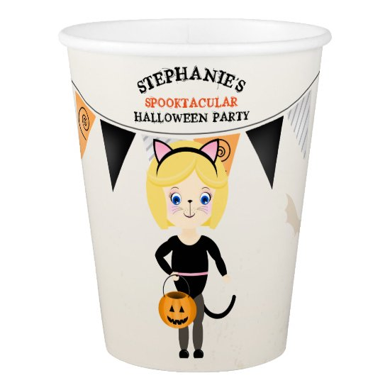 Cute Cat Halloween Party Paper Cup