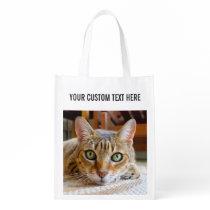 Cute Cat & Hamster custom reusable bag