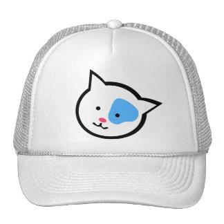 Cute Cat Head(Blue) Trucker Hats
