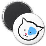 Cute Cat Head(Blue) Refrigerator Magnets