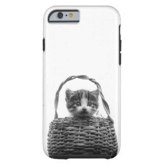 Cute Cat in a Basket Vintage Photo Tough iPhone 6 Case