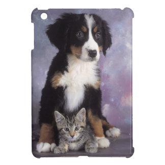Cute cat in dog in love iPad mini case