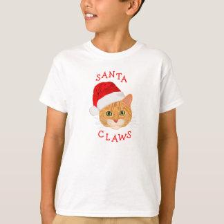 Cute Cat in Santa Hat Christmas T-Shirt