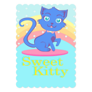 Cute cat Invitation