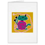 Cute Cat Knitting Card