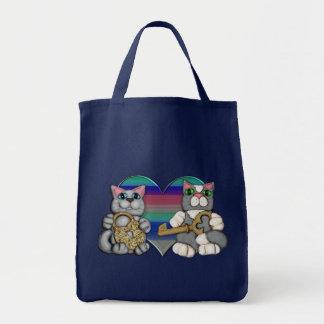 Cute  Cat Lover's Grocery Tote Bag