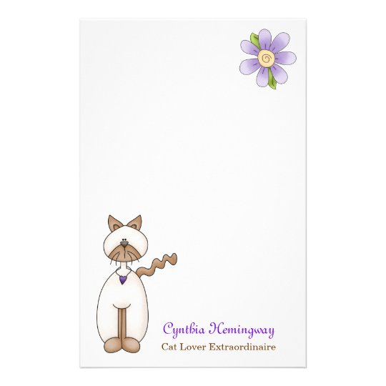 Cute Cat Lovers Custom Stationery
