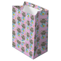 Cute Cat Medium Gift Bag