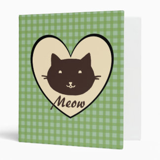 Cute Cat Meow Heart Binder