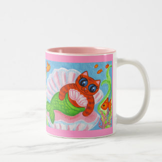 Cute Cat Mermaid Coffee Mug Birthday Gift