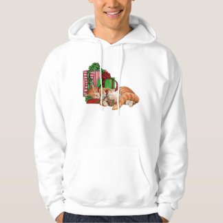 Cute Cat, Mouse and Christmas Presents Hoodie