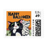 Cute Cat & Mummy Cat - Halloween Postage (Small)