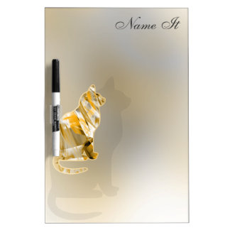 Cute Cat Neat Yellow Dry-Erase Board