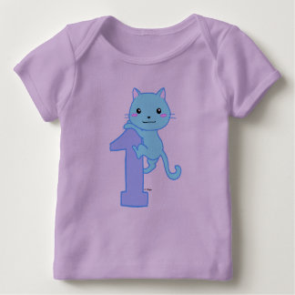 cute cat number 1 baby T-Shirt