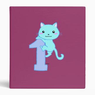 Cute cat number 1 vinyl binder