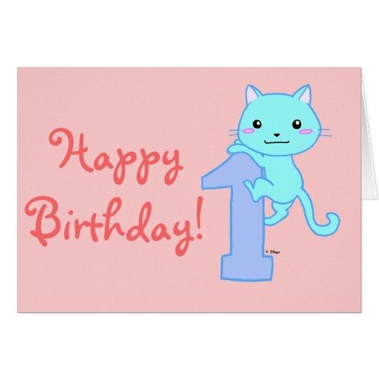 Cute cat number 1 card