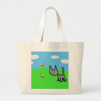 Cute Cat On A summer Day Canvas Bag