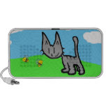 Cute Cat On A summer Day Travel Speaker