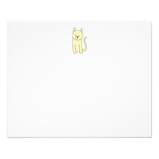 Cute Cat. Pale Amber Color. Personalized Flyer